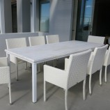 Simola 8 seat white wash fibre top res lo