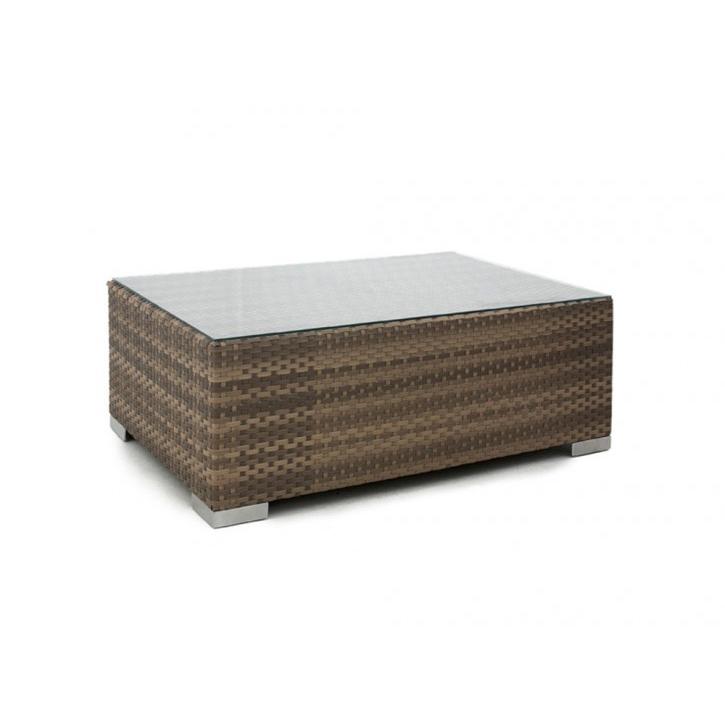ZIMBALI COFFE TABLE - FLAT CANE 80x120