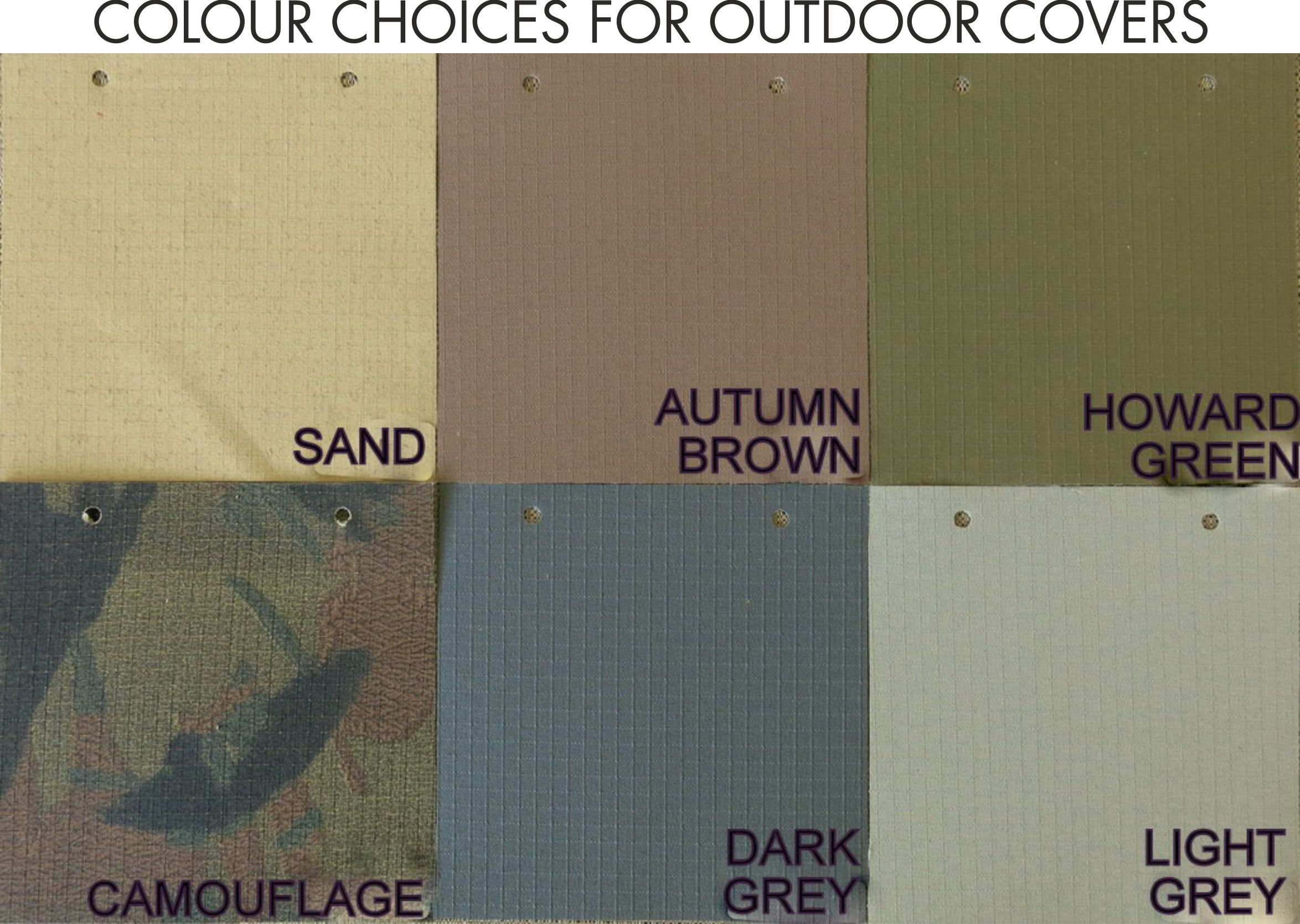Ripstop Colour choices for outdoor covers