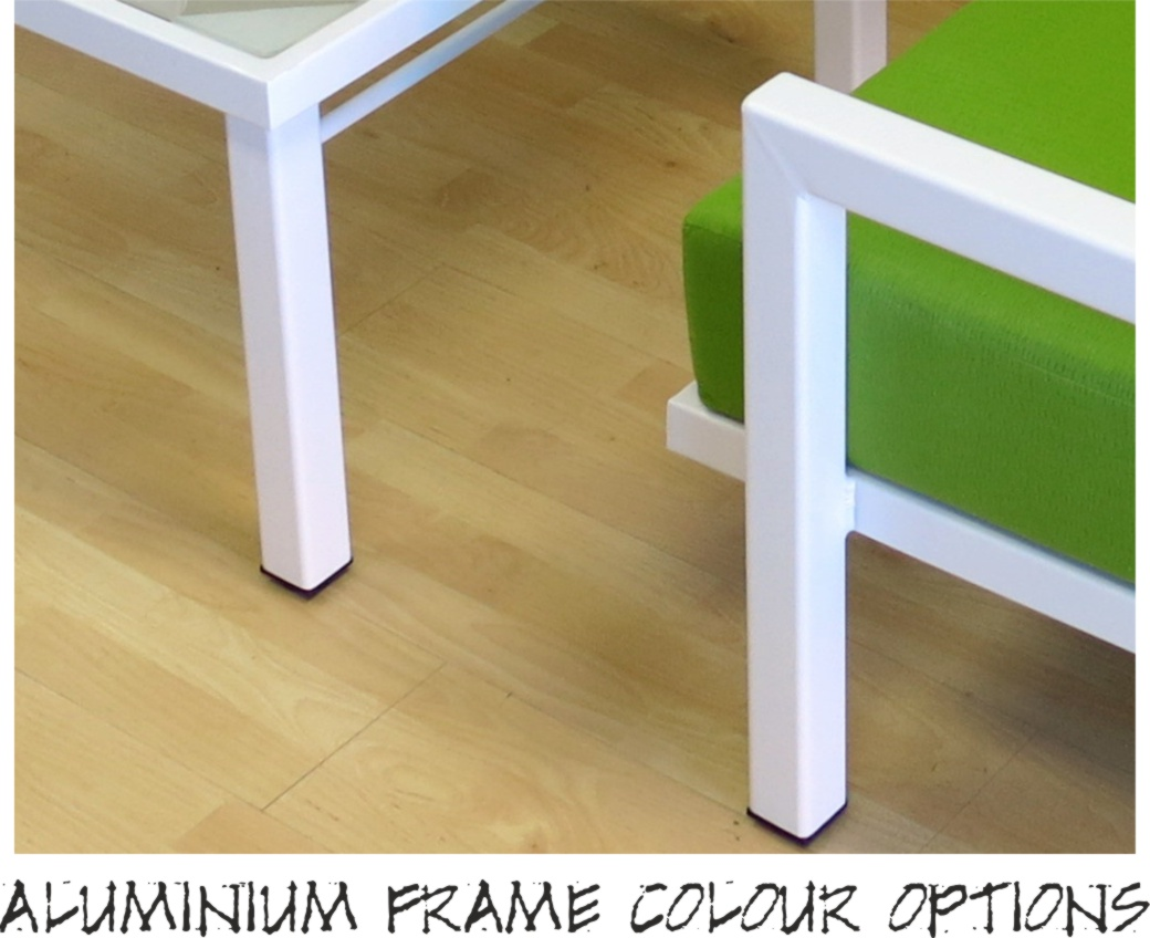 Website front page aluminium frame colour options