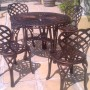 Lattice side chair & table