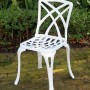 Swish side chair white