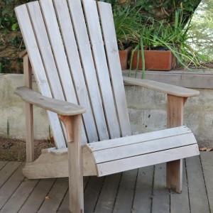Adirondack chair R Teak aged