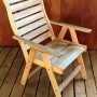 Slated High Back Chair angle lr