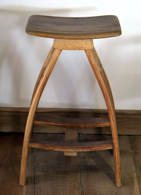 ... Solid Oak barrel bar stool front lr ... & BARREL BAR STOOL | Patio Life islam-shia.org