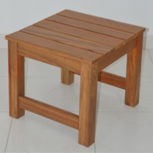 Cape Country side table kiaat 50x50x45