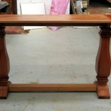 Homestead console table turned legs