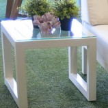 Simola Side table Par Legs glass top