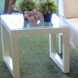 Simola Side table Par Legs glass top