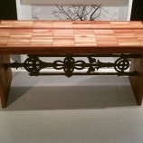 Parquet bench cast iron detail